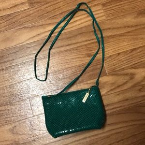Whiting & Davis Green Sequined Vintage Crossbody